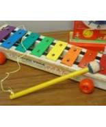 Vintage 1964 Fisher Price 870 Pull- A-Tune with Original Mallet and Pull String - $10.99