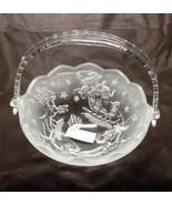 Mikasa Holiday Classics Crystal Handled Basket NIB - $12.99