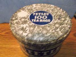 Tetley Tea 100 Count Silver and Blue Tin - $40.00