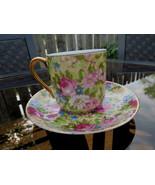 VTG Porcelain China Mini Tea Cup & Saucer Set P... - $9.99