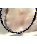 Dark blue beaded necklace - $2.00