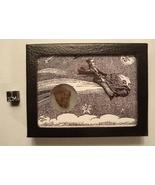 Retro Meteorite Display Box w/ Vintage Astronom... - $25.00