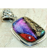 Wholesale Sterling Silver & Dichroic Art Glass Pendant in Varied Forms - $16.80
