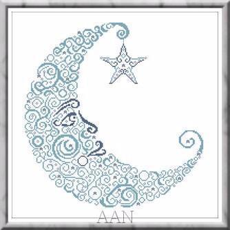 Sweet Moon cross stitch chart Alessandra Adelaide Needleworks