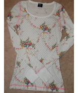 BDG Top Thermal White Floral Juniors XS Urban O... - $4.00