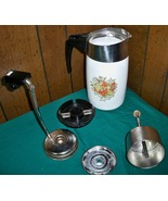 Rare Vintage Corning Ware 10 Cup Electric Percolator Spice of Life  E–1210 - 8 - $9.95