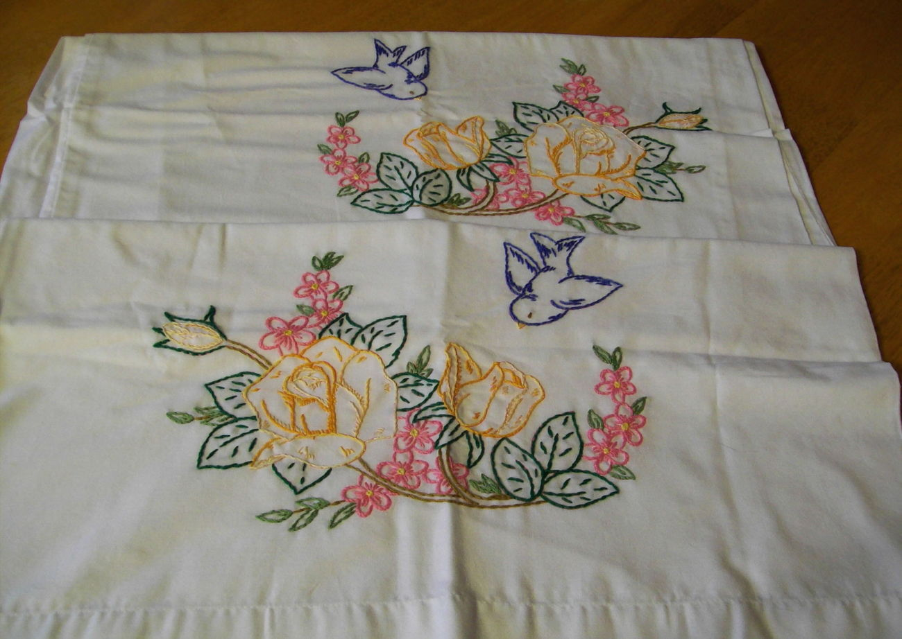 Pillow Case Hand Embroidery Designs With Embroider Sweet Dream Makarokacom