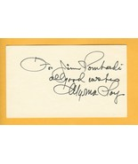 Myrna Loy Hand Autographed Personalized card - $74.99