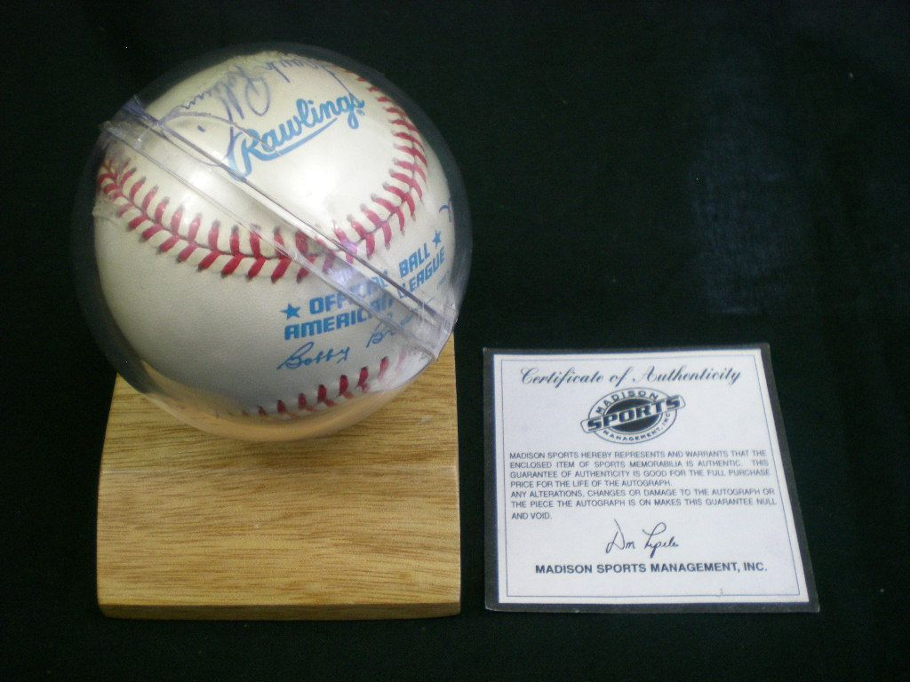 MICKEY MANTLE WILLIAMS YAZ ROBINSON SIGNED BASEBALL 