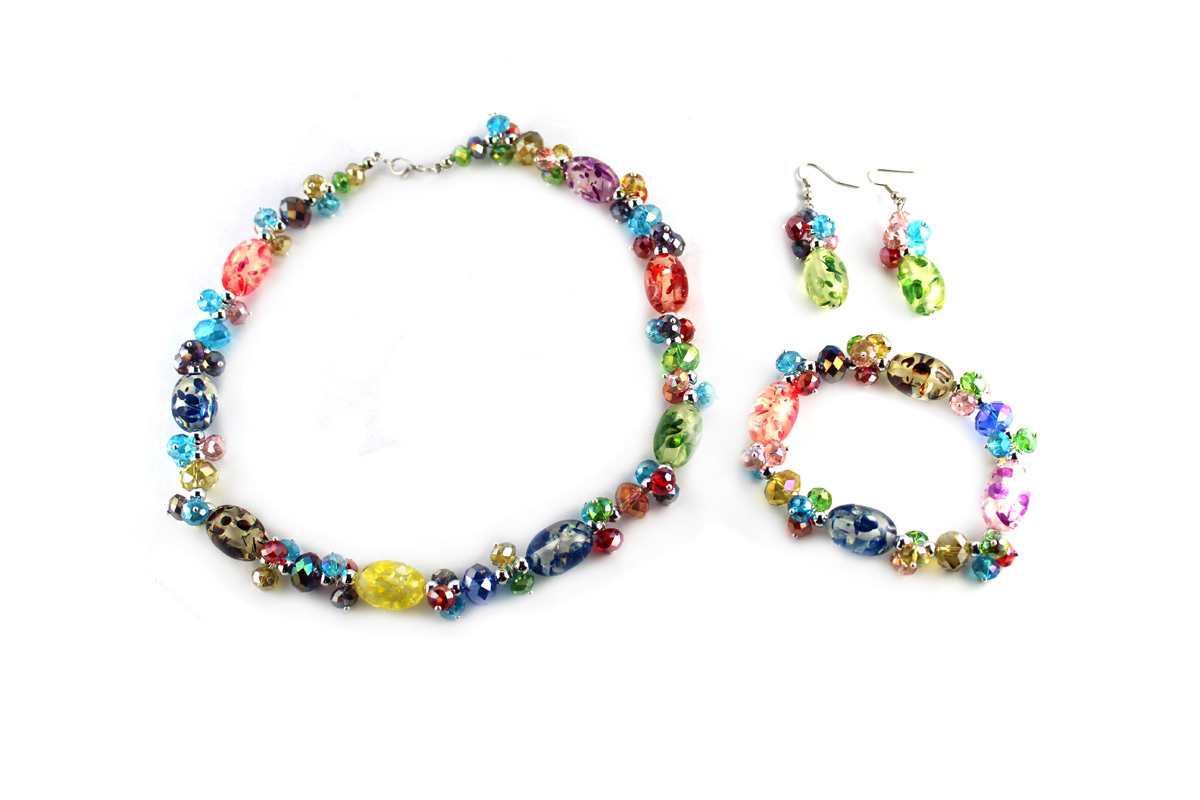 Confetti Jewelry Set in Rainbow