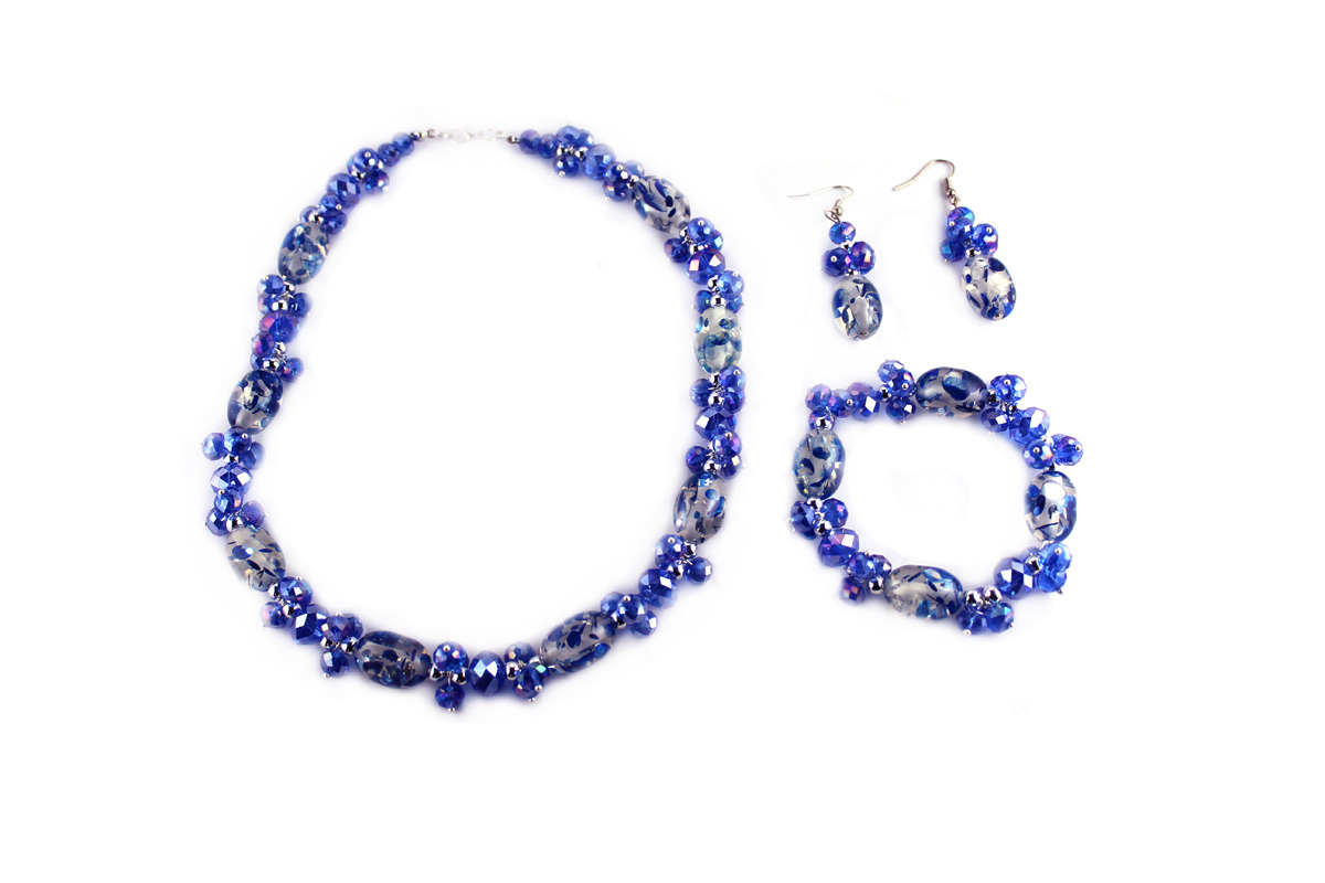 Confetti Jewelry Set in Ocean Swirl