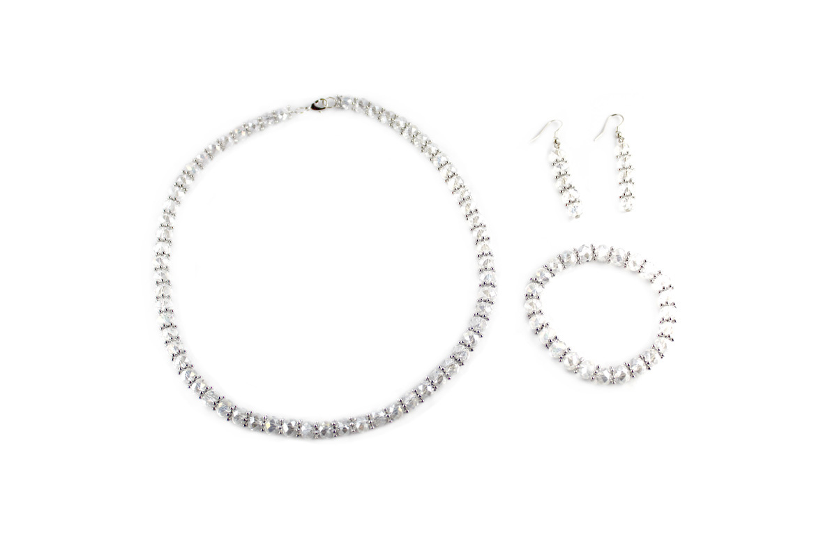Royal Jewelry Set in Clear Crystal