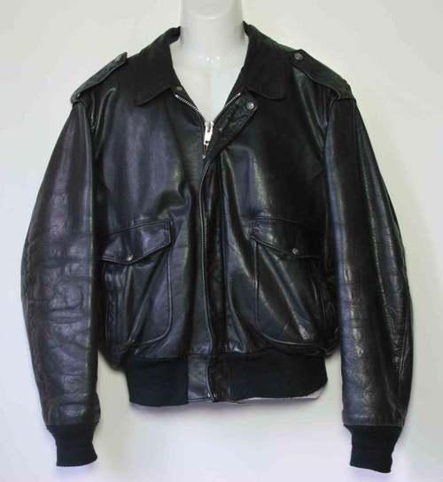 Schott Leather Flight Jacket w/Removable Collar