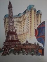 12x16  Las Vegas Print PARIS artist A.Bell - $37.23