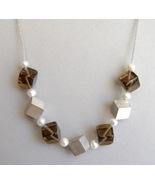 Smokey Quartz Pearl Sterling Silver Necklace Un... - $250.00