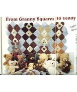 Darling~Granny Squares Teddy Bear Afghan Crochet Pattern~HTF - $7.99