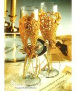 X418 Crochet PATTERN ONLY Wedding Goblet, Album... - $7.45