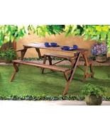 Wood Picnic Table Converts to a Park Bench Chair - $145.00