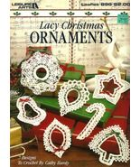X823 Crochet PATTERN ONLY Lacy Christmas Orname... - $12.45