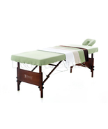3-pc Microfiber Massage Table Sheet Set in Oliv... - $49.98
