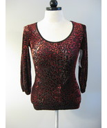 Karen Kane Retro Glamour Velvet Top Size XS NWT - $28.00