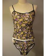 Lingerie Purple Floral Glitter Camisole Set Siz... - $12.00
