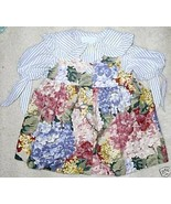 COTTONTAIL BABY JUMPER DRESS SS BLOUSE BLUE FLO... - $33.40