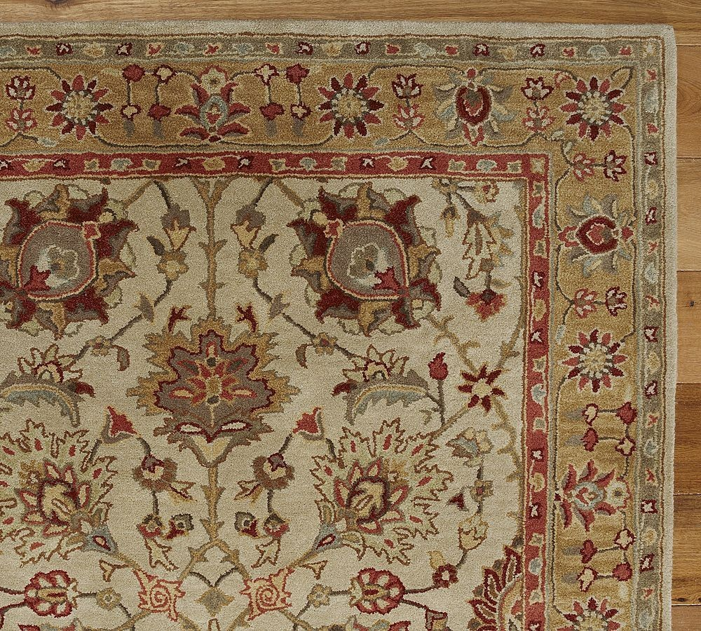 New Brand Devlin Persian Rug Handmade 100 Wool Area Rugs: New Pottery Barn Handmade BRANT Persian Style Area Rug