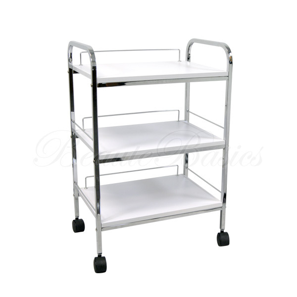 Facial trolley salon cart spa equipment steel frame wooden for A lenox nail skin care salon