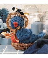 Y148 Crochet PATTERN ONLY Nesting Blue Bird wit... - $6.45