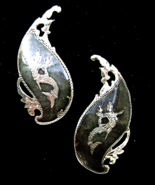 Vintage Siam Sterling Niello Mermaid Large Clip... - $19.99