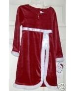 NWT YOUNGLAND RED VELVET FUR TRIM DRESS NECKLAC... - $26.82