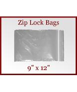 100 Zip Lock Recloseable Poly Seal Bags 9 x 12 ... - $17.98