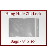 100 Zip Lock Recloseable Poly Bags with Hang Ho... - $15.48