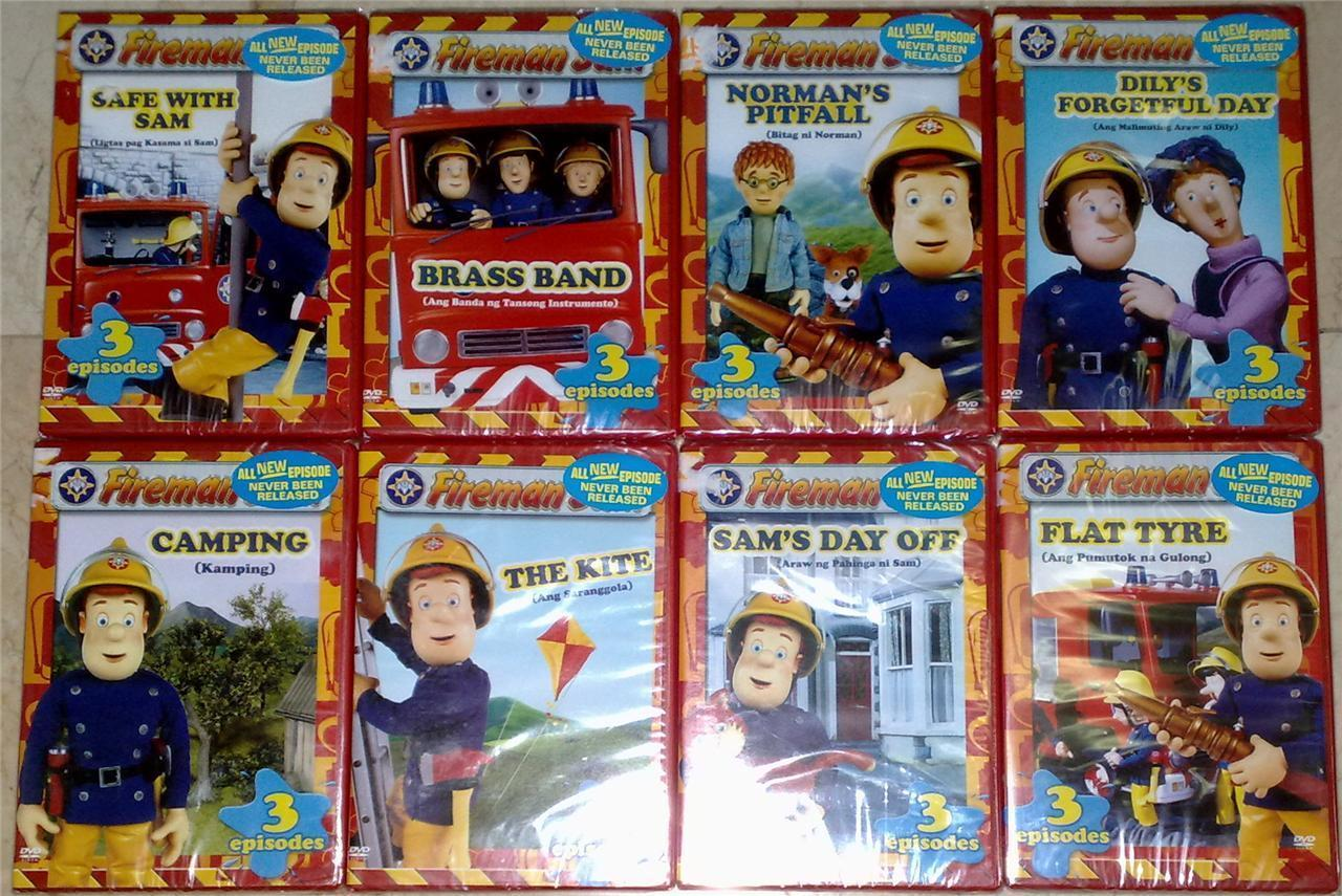 FIREMAN SAM Lot of 8 DVD ( 24 Episodes ) Brand New & Sealed!