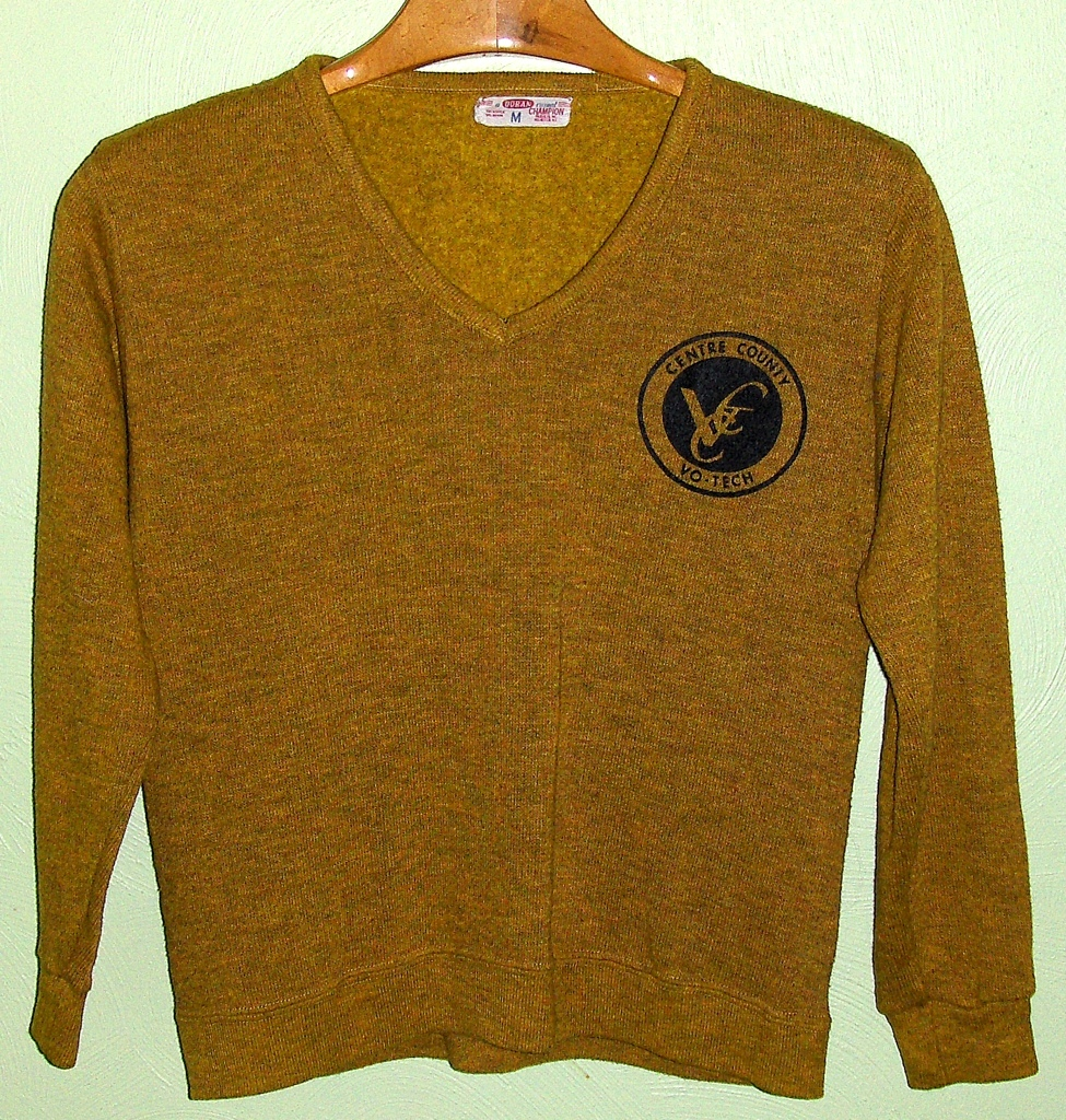 Men's 50's 60's Vintage Doran Champion V-Neck Rayon Sweater