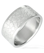 316L Surgical Stainless Steel Flat Band Ring Sz 11 - $9.00