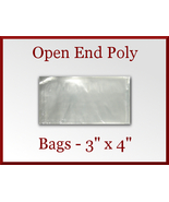 500 Open End Poly Bags 3 x 4 inches USDA FDA Ap... - $15.98