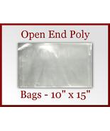 50 Open End Poly Bags 10 x 15 inches USDA FDA A... - $11.75