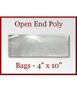 200 Open End Poly Bags 4 x 10 inches USDA FDA A... - $16.98