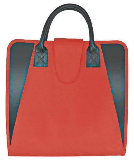 Fabric File Totes Has 13 Pockets  Red