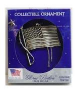Gloria Duchin Genuine Pewter American Flag Orna... - $6.99
