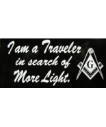 Masonic Freemason I Am a Traveler in search of ... - $6.00