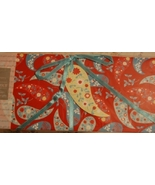 Paisley Envelope Pouch - Red-Paisley-Blue Bow NEW - $3.00