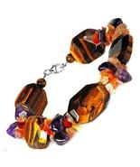 Agate, Amethyst and Tigers Eye Sterling Silver ... - $24.99