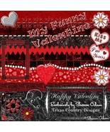 Happy Valentine Digital Scrapbooking Kit - $4.00