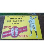 Shoeless Joe Jackson Shoes Metal Sign - $40.00