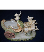 HAND PAINTED Andrea by Sadek LADY IN HORSE CARR... - $49.99