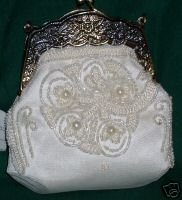 STERLING Styles Beaded Wedding Bag