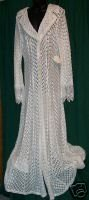 MARTIN McCREA Heavy Lace Bridal/Evening Coat Sz L